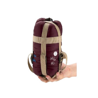niceEshop Compressible Outdoor Camping Sleeping Bag Envelope Sleeping Bag(Wine Red)