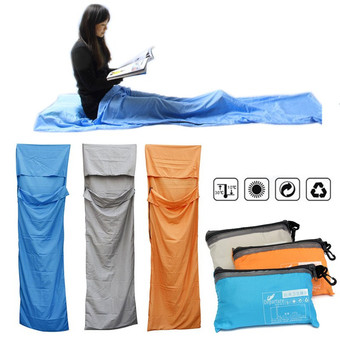 Portable Outdoor Camping Travel Multifunction Ultra-light Envelope Sleeping Bag Grey