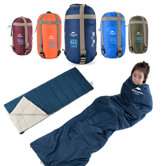 Leegoal Compressible Outdoor Camping Sleeping Bag Envelope Sleeping Bag(Dark Blue)