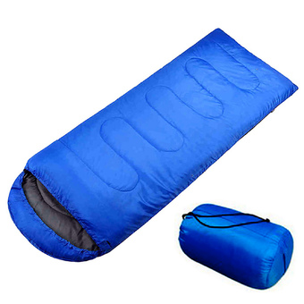 Adult Envelope Healthy Sleeping Bag Portable Sleep bag with Hood for Camping Travel Blue
