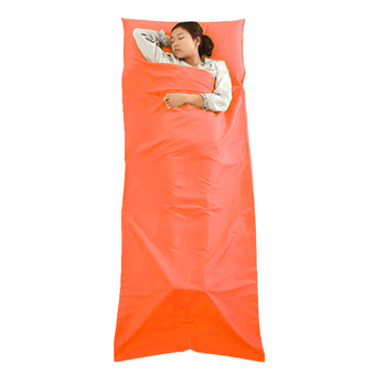 Allwin Sleeping Bag Liner Travel Sleep Sack Sheet Hiking Camping Tent Mat Pad Orange