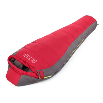 Allwin OUTAD Outdoor Winter Camping Waterproof Warming Single Sleeping Bags Red Grey