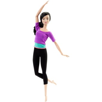 Barbie® Made To Move™ Doll - Purple Top