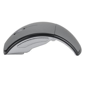 Bestbuy 2.4Ghz Foldable Folding Wireless Mouse Mice Snap-in Transceiver For Computer Laptop Tablet - Gray