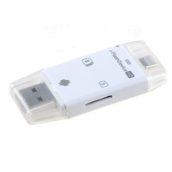 2 in 1 i-Flash Drive TF SD Card Reader For iPhone 5/5S/5C/6 iPad2/3/4/air-