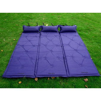 Outdoor Multifunction Inflatable Double Cushion Thickening Camping Mattress Pad Mat Waterproof Moisture-Proof Pad Mat Tent-Purple