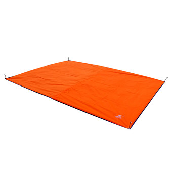 GEERTOP Tent Tarp Mat - 300 x 220 cm Waterproof Oxford Fabric GroundSheet Canopy, For 4 to 5 Persons Camping Hiking Picnic - Orange.