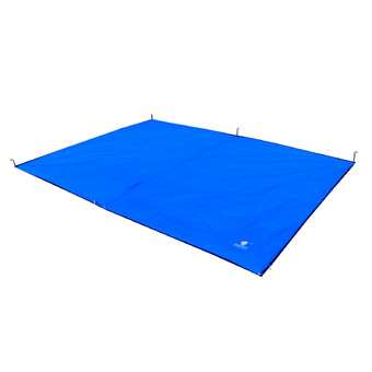 GEERTOP Tent Tarp Mat - 300 x 220 cm Waterproof Oxford Fabric GroundSheet Canopy, For 4 to 5 Persons Camping Hiking Picnic - Blue.