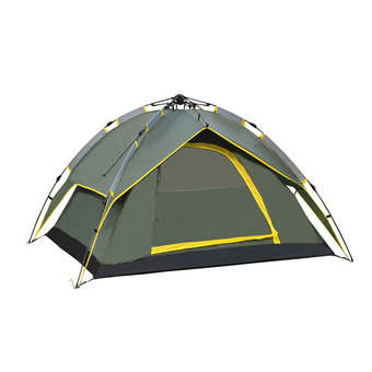 Leegoal 4 Persons Waterproof Dome Automatic Instant Tent Beach Tent for Festival,Camping, Hiking, Army Green