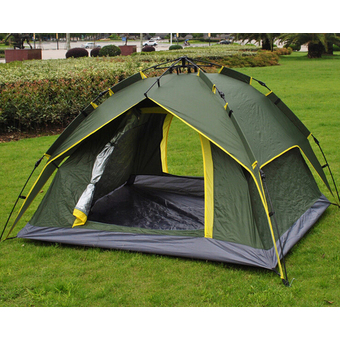 Leegoal 4 Persons Waterproof Dome Automatic Instant Tent Beach Tent for Festival,Camping, Hiking, Army Green ร้านค้าดี ราคาถูกสุด - RanCaDee.com