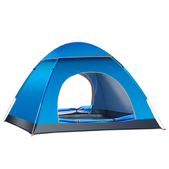 Portable 3-4 Person Lightweight Waterproof UV-resistant Indoor Outdoor Travel Beach Camping Tent with Storage Bag Blue