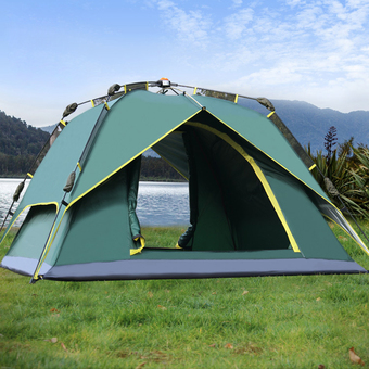 Outdoor Tent 3-4 Person Camping&Hiking Tents With Carry Bag(Army Green)