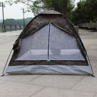 Waterproof Outdoor Single Layer Camouflage Camping Tent for 2 People - INTL