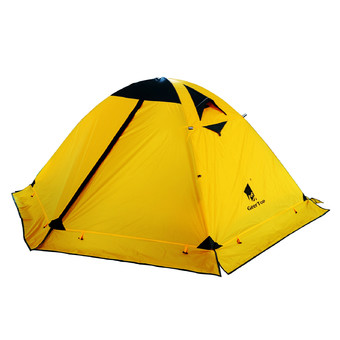 GEERTOP 4-seasons 2-persons Waterproof Dome Tent For Camping Backpacking Hiking Travel Climbing - Easy Set Up - Yellow.