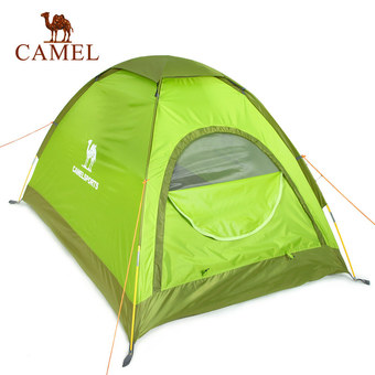Camel Outdoor Caminp Hiking Travel Waterproof Two-person Tents Color Green - Intl