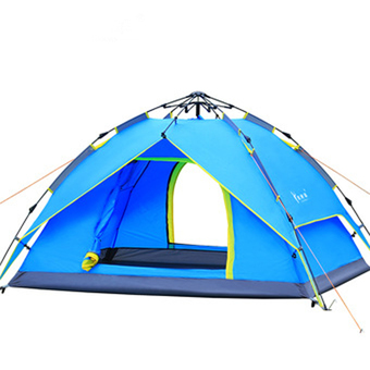 Outdoor Tent 3-4 Person Camping&Hiking Tents With Carry Bag(Blue)