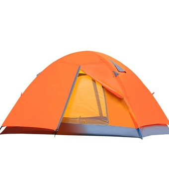 Double Layer Outdoor Camping Tent(orange)