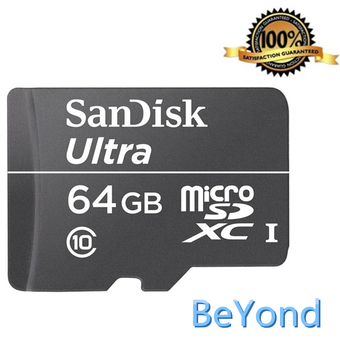 SanDisk BeYond SanDisk Satisfaction Guaranteed 100% 64GB Micro SDHC Memory Card (สีดำ)