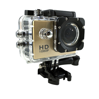Ck Mobile Sport Action Camera 2.0 LCD Full HD 1080P No WiFi (สีทอง)""