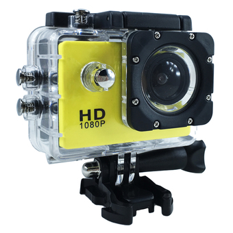 Ck Mobile Sport Action Camera 2.0 LCD Full HD 1080P No WiFi (สีเหลือง)""