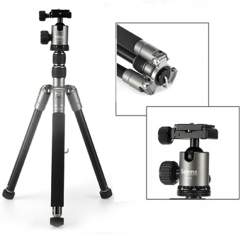 Selens T170 62in Professional SLR Camera Aluminum Tripod / Monopod for Cameras and Camcorders (Grey)
