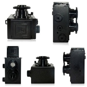 Classic Twin Lens Reflex TLR 35mm Holga Lomo Camera Kit