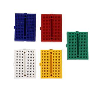 5pcs Colorful Mini Solderless 170 Tie Points Breadboard