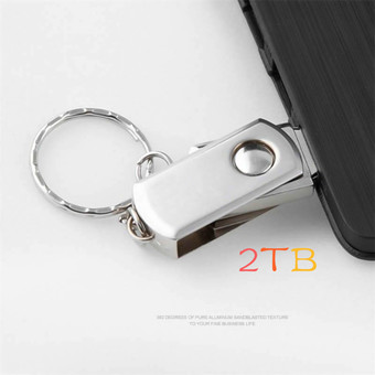 Metal rotary usb flash drive 2TB plate usb flash pen drive stick USB 2.0 U Disk free shipping