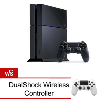 PS4 Sony PlayStation 4 500GB Jet Black - BLACK (แถมฟรี DUALSHOCK - WHITE)