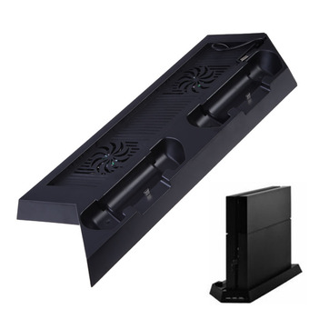 USB Dual Fan Cooling Cooler Charging Dock Station Vertical Stand for PS4