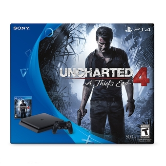 New PS4 Slim 500G Uncharted 4 Bundle USA