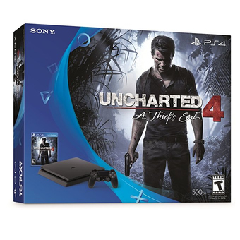Sony New PS4 Slim Uncharted 4 Bundle (USA)