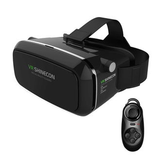 Virtual Reality VR SHINECON 3D Glasses Oculus Rift Head Mount 3D Movies Games For 3.5-6.0 inch Phone+Bluetooth Remote Gamepad