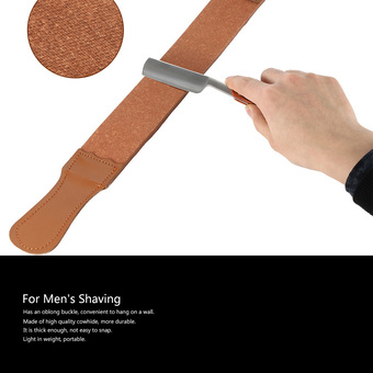 Men's Shaving Leather Strap Cowhide Throat Razor Strop Straight Cut Sharpening Strop Belt for Barber Male Shaving Tool (Intl)