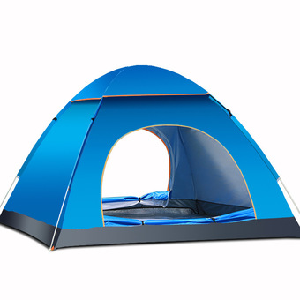 200x200x135cm quick-opeing automatic Tent 3-4 persons camping tents outdoor Waterproof Tents Beach Tents (Blue)