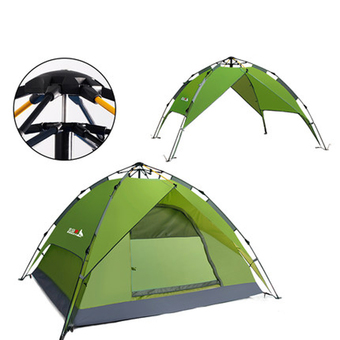 Family Camping Tents Dome Tent (Green)