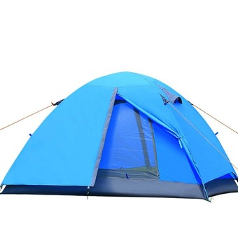 Double Layer Outdoor Camping Tent(blue)
