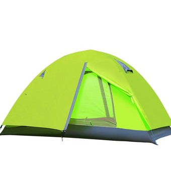 Double Layer Outdoor Camping Tent(green)