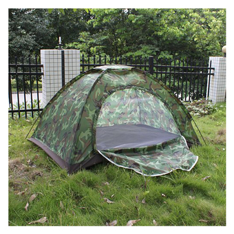 Multiplayer Folding Tent Waterproof Four Seasons Fiberglass For Outdoor Camping Camouflage Hiking