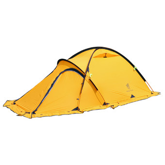 GEERTOP 2-persons 4-seasons Camping Alpine Tent For Backpacking Hiking Climbing Light weight - With Living Room - Yellow.
