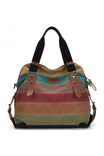wonderful story Big Size: 37x36x15cm กระเป๋าแฟชั่น กระเป๋า Big Canvas bag Rainbow Fashion Women Bag