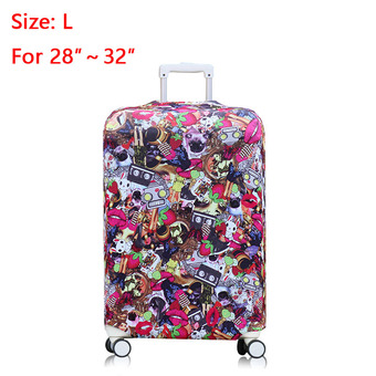 28-32 inch Travel Luggage Cover Suitcase Protective Cover Protector for Trunk Case Apply to 28-32 inch (Not include the suitcase)