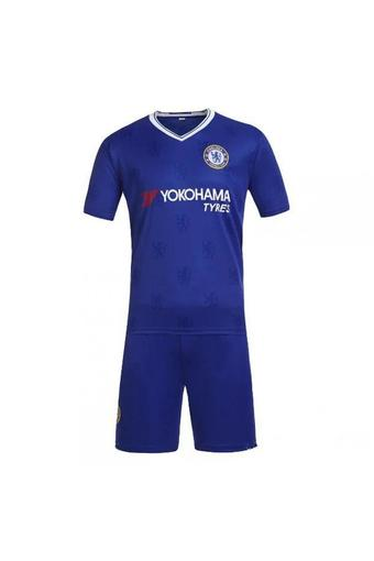 High quality 2016--2017 Chelsea soccer jersey suits include tops+ shorts (blue).
