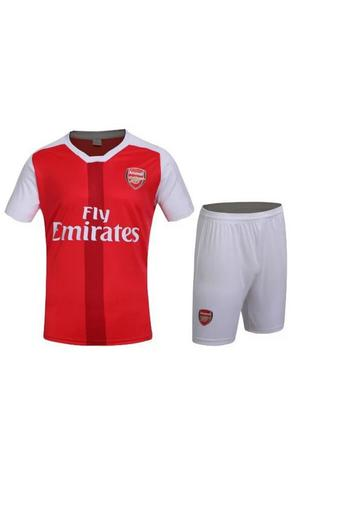 High quality 2016--2017 Arsenal soccer jersey suits include tops+ shorts (red).