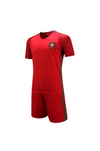 High quality 2016 European Cup Portugal national Soccer Jersey Suit includes tops + Shorts (red).