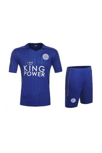 High quality 2016--2017 Leicester City soccer jersey suits include tops+ shorts (blue).