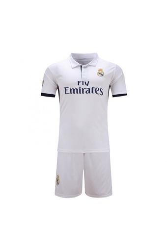 High quality 2016--2017 Royal Madrid soccer jersey suits include tops+ shorts (white).
