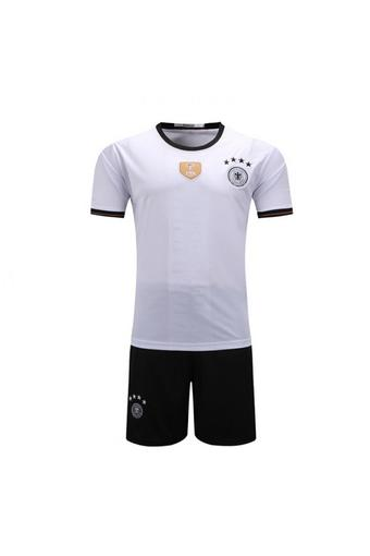 High quality 2016 European Cup Germany national Soccer Jersey Suit includes tops + Shorts (white).