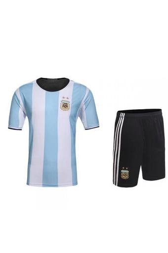 High quality 2016 European Cup Argentina national Soccer Jersey Suit includes tops + Shorts (white+blue).