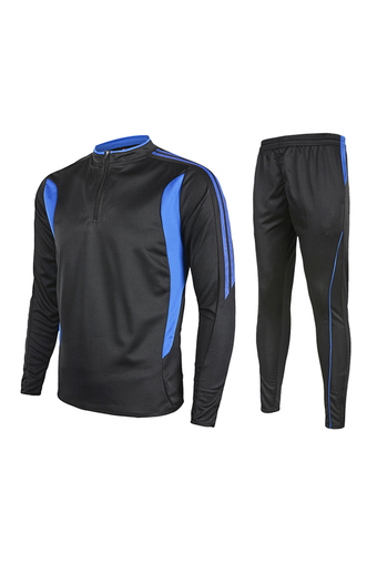 Fashion 2016 Men's Outdoor Football Sport Sportwear Pants With Long Sleeve T Shirts Jersey Suit Set-Blue(230) - Intl